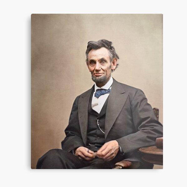 Colorized  - Abraham Lincoln Metal Print