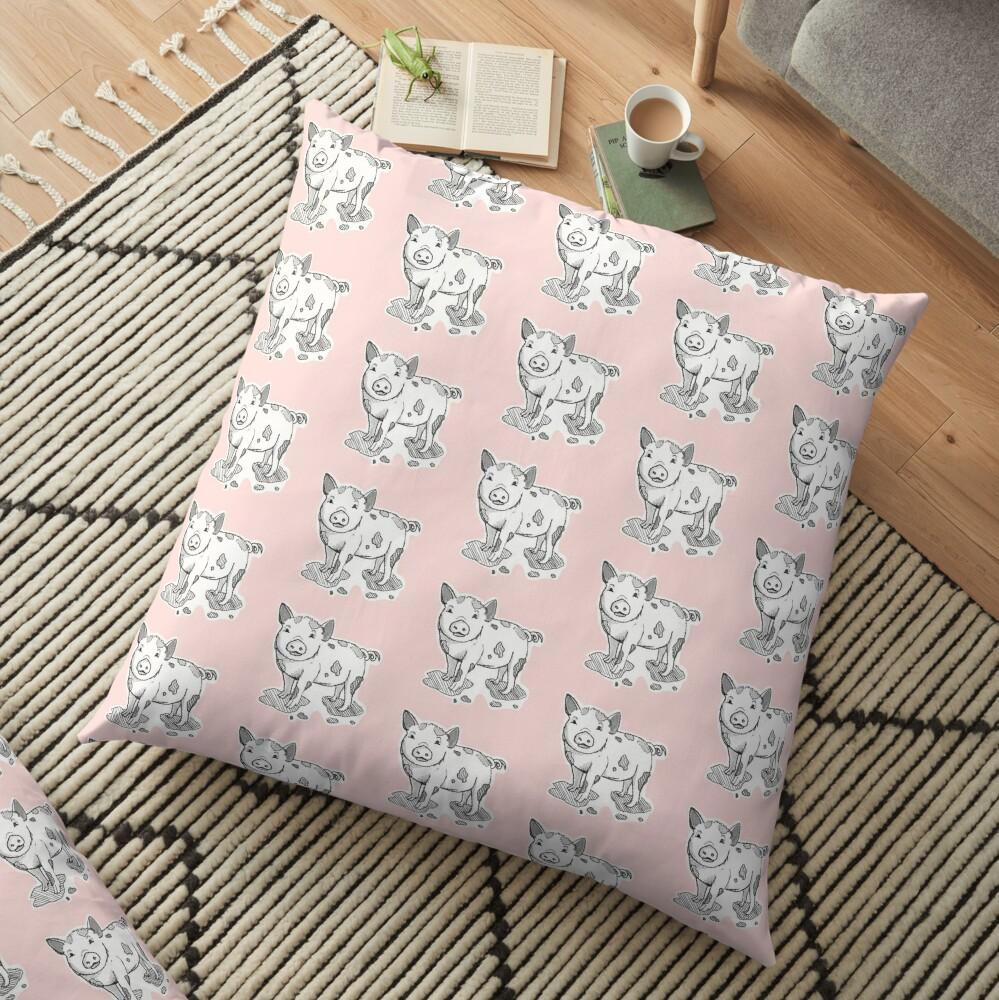 Muddy Piggy Floor Pillow