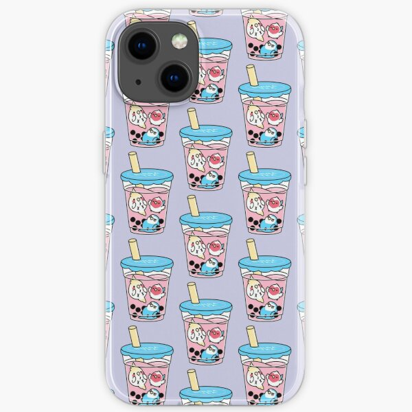 Bubble Boba Tea, Cody the Lovebird and Friends iPhone Soft Case