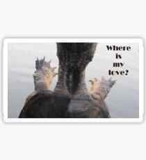Where is my love? Sticker