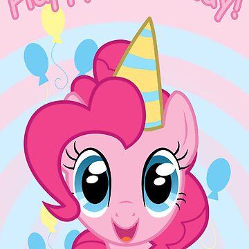 Pinkie Pie Birthday Card - Postcard My Little Pony by FalakTheWolf