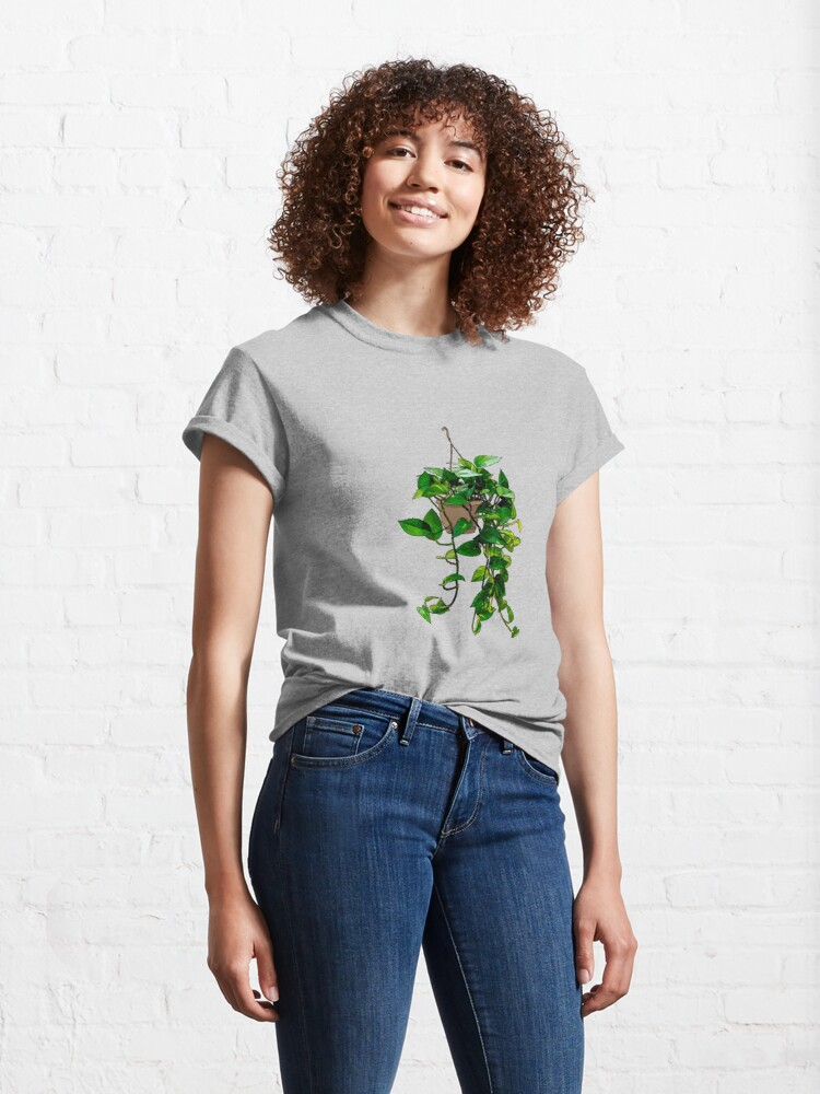 Alternate view of Hanging Pothos Plant Classic T-Shirt