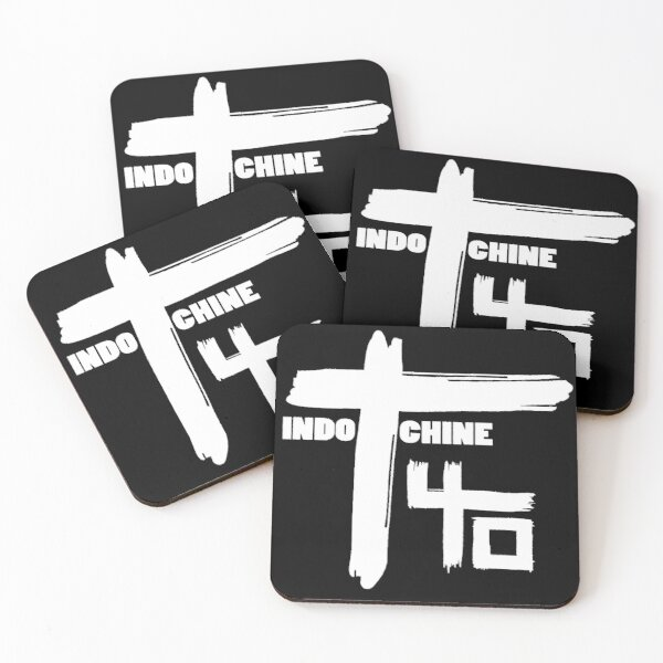Indochine : Pop Rock & New Wave band Coasters (Set of 4)