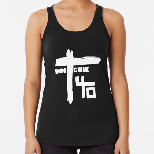 Indochine : Pop Rock & New Wave band Racerback Tank Top