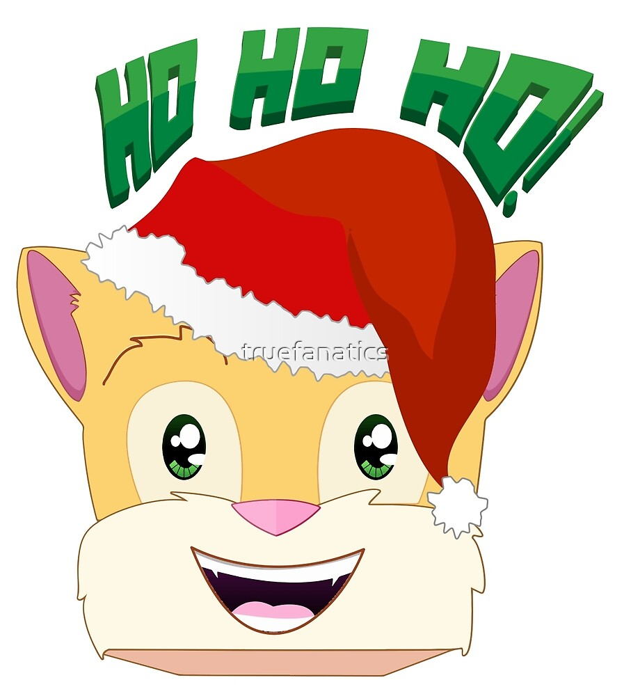 Stampylonghead Christmas.Minecraft Youtuber Stampy Cat Santa Christmas Winter
