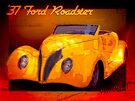 Most Beautiful Roadster In The World - 1937 Ford in Yellow by ChasSinklier