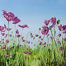 Field of Pink Poppies by Cherie Roe Dirksen