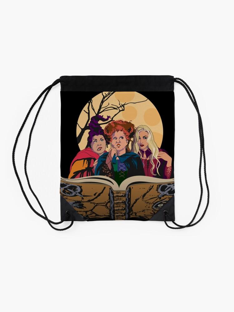 Alternate view of Hocus Pocus Sanderson Sisters Drawstring Bag