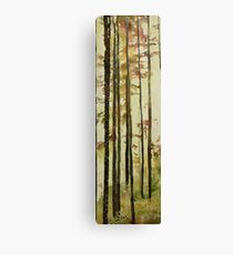 Forest Quilt, watercolor and mixed media on canvas Canvas Print