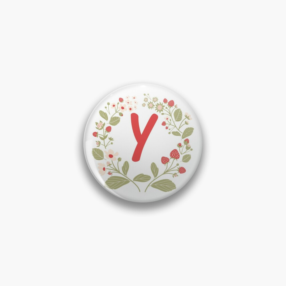 Strawberry alphabet - letter Y Pin