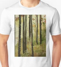 Forest Quilt, watercolor and mixed media on canvas Unisex T-Shirt