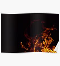 Flames in the dark Poster