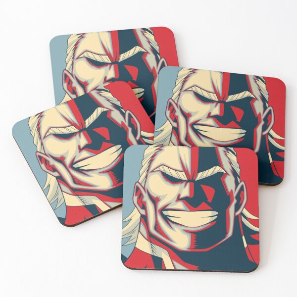 All Might Retro Coasters (Set of 4)