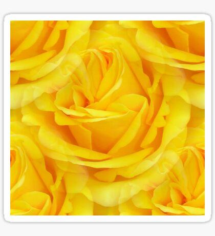Modern Abstract Seamless Yellow Rose Petals Sticker