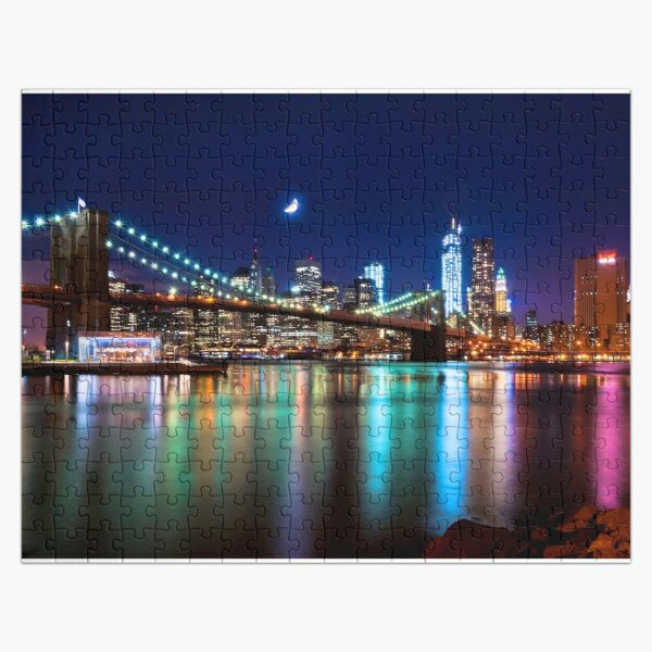 New York City Skyline and Brooklyn Bridge Jigsaw Puzzle