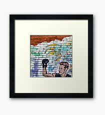 Up Against a Brick Wall Framed Print