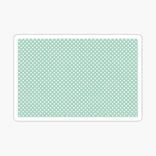 Pastel green polka dots Sticker