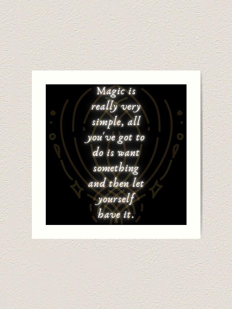 Alternate view of Magic is Very Simple Art Print