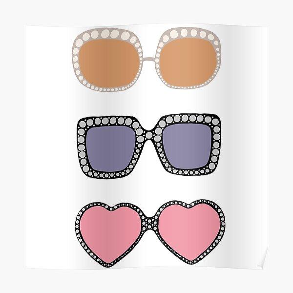 Ensemble de 3 lunettes de soleil Elton John Poster