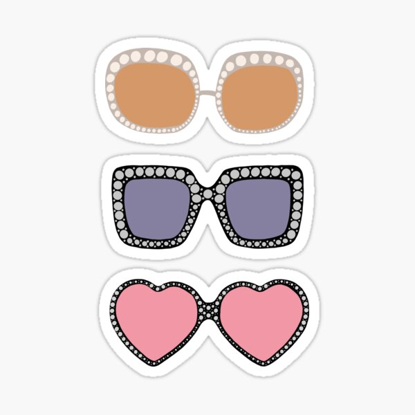 Elton John Sunglasses  3PACK Sticker