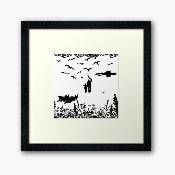 Tirricks Diving At Da Hoab Framed Art Print