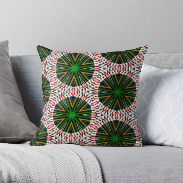 Psychedelic pencils  Throw Pillow