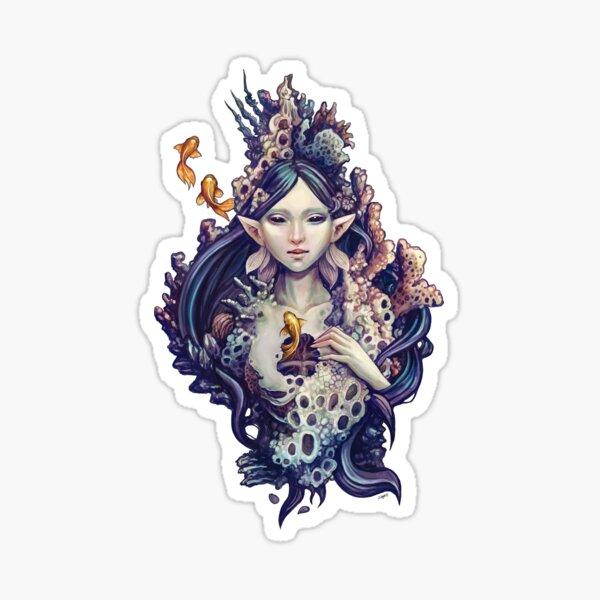 Emerge - mermaid design Sticker