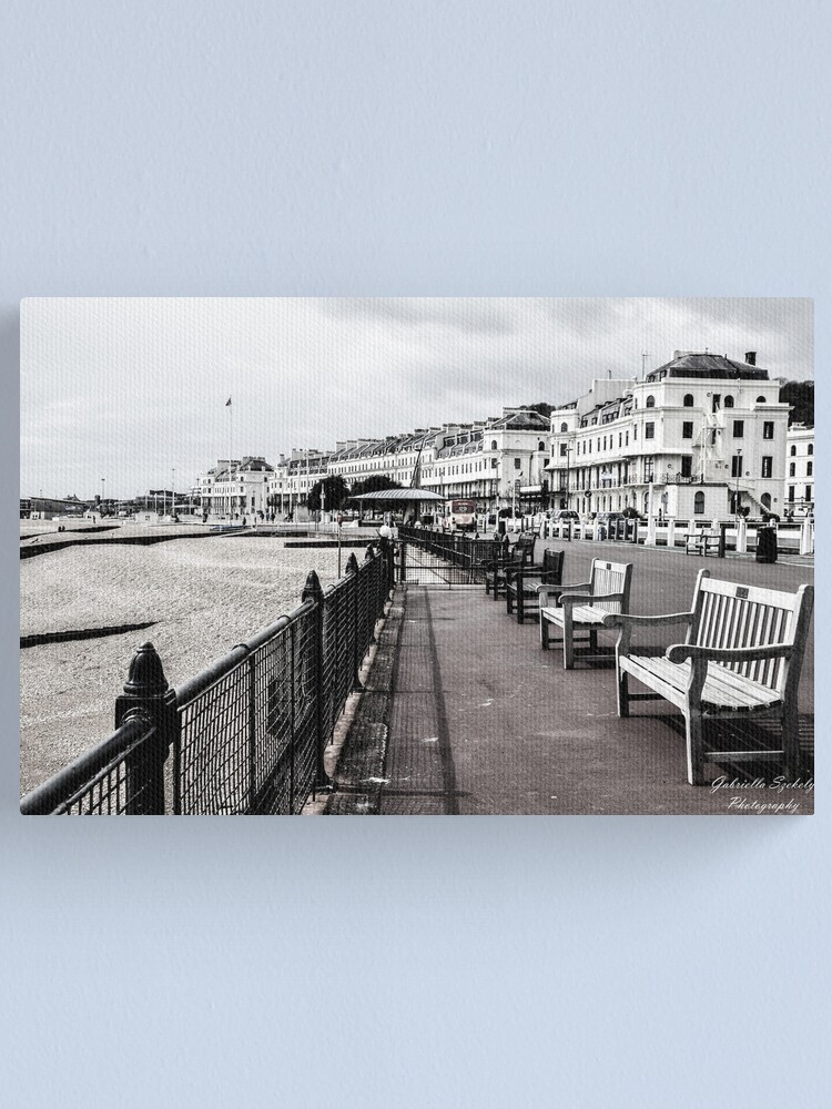 Alternate view of A seat at the beach Canvas Print
