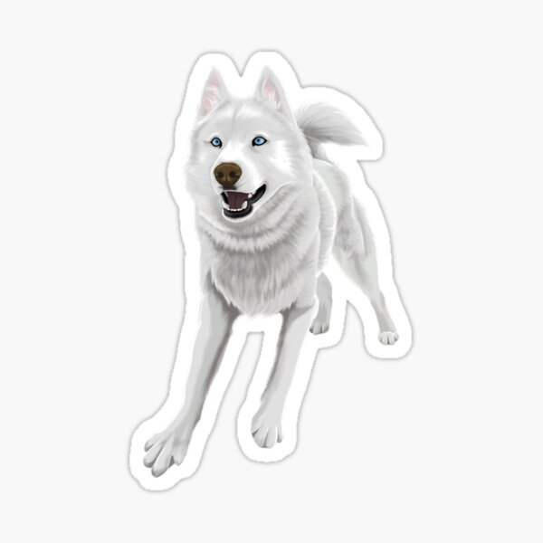 Eager Husky Sticker