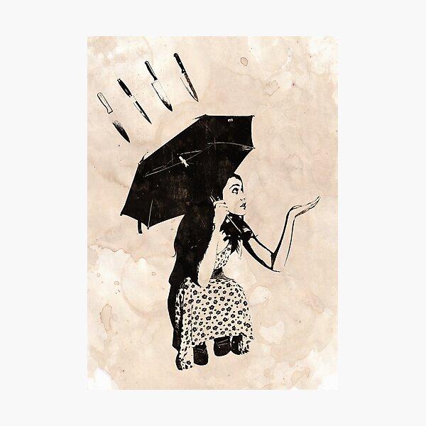 Raining Knives Photographic Print