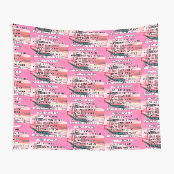 PINK Motha Trucker Tapestry