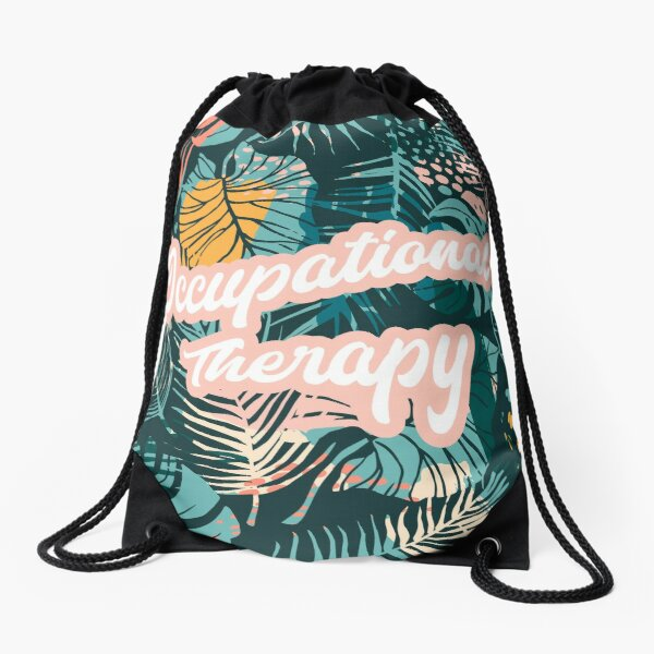 Tropical Plants OT Occupational Therapy Drawstring Bag