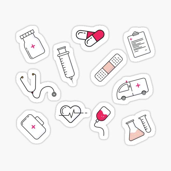 Hospital Medical pattern - Gift for healthcare worker NHS Sticker