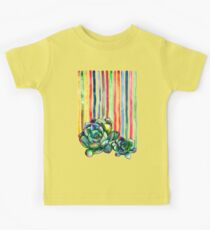 Rainbow Succulents Kids Tee