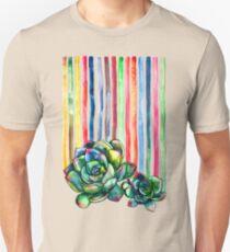 Rainbow Succulents Unisex T-Shirt