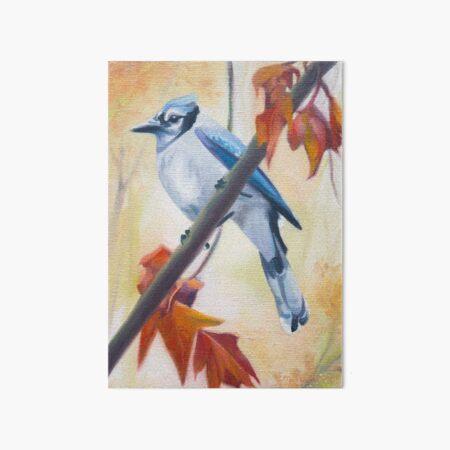 Prophet - blue jay in autumn painting Art Board Print