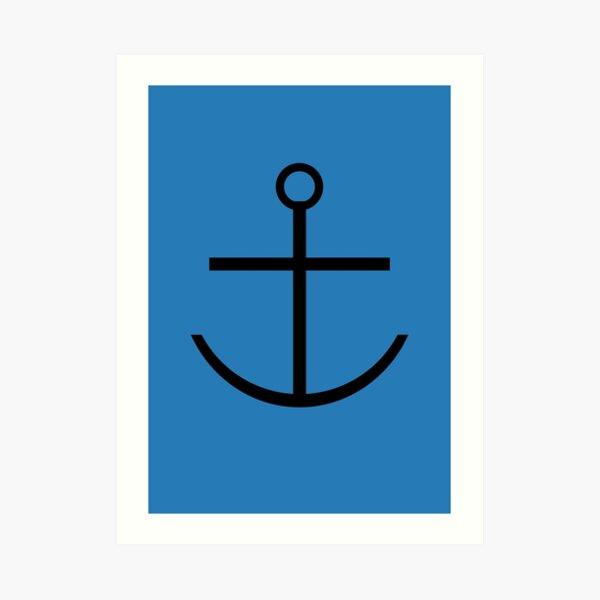 Captain Haddock Anchor Shirt Art Print