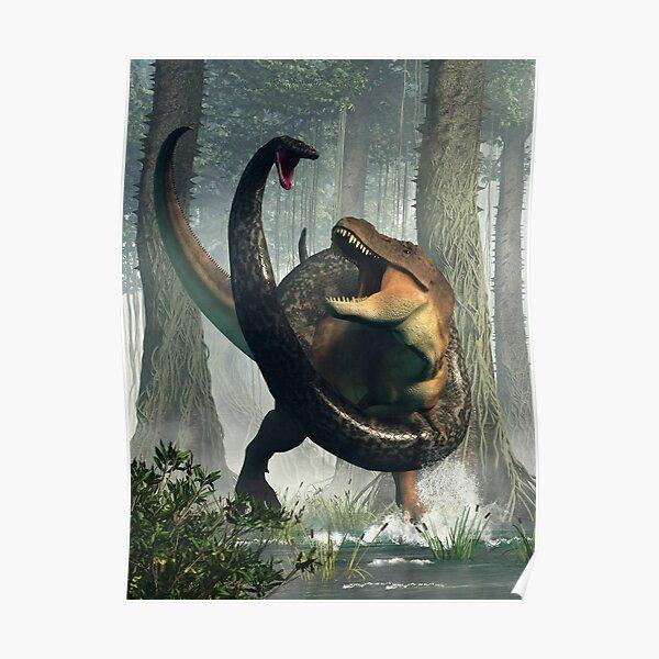 T-Rex vs Titanoboa Poster
