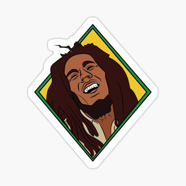 Rasta Marley Illustration Pegatina