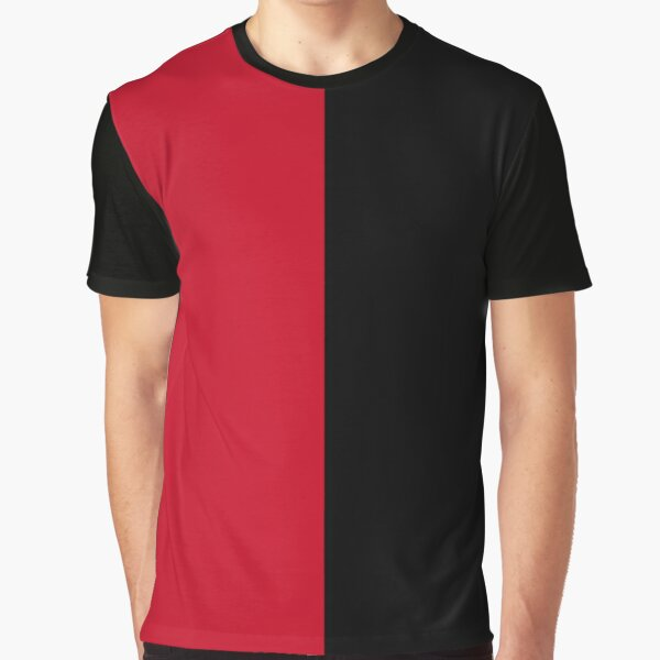 Black and Red colors Graphic T-Shirt