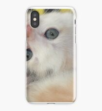 Silly girl with a cute face iPhone Case
