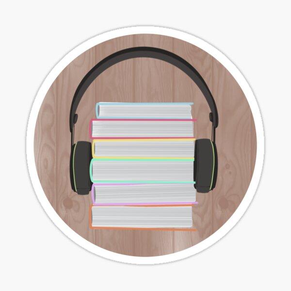 Audiobooks - Books with Headphones Sticker