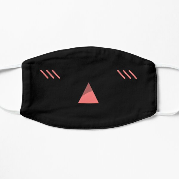 Anime Triangle Mouth Expression Flat Mask