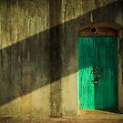 Blue Castle Door by Euge  Sabo