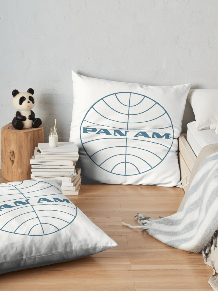 Alternate view of Pan Am Early 1950s Globe Thin Frame Floor Pillow