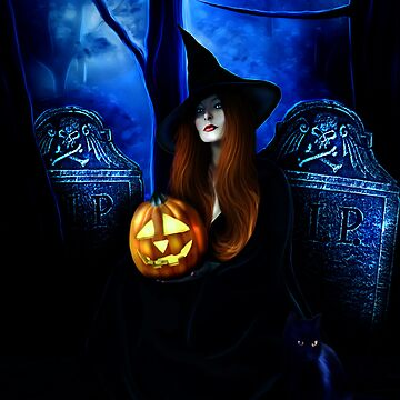 Samhain Witch by indigocrow