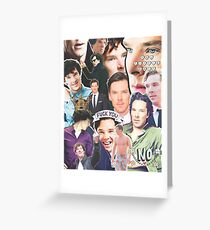 benedict collage Greeting Card