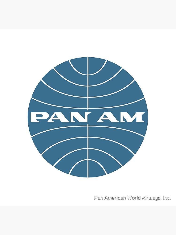 Pan Am Early 1950s Globe Thin Frame Inverted by panamofficial