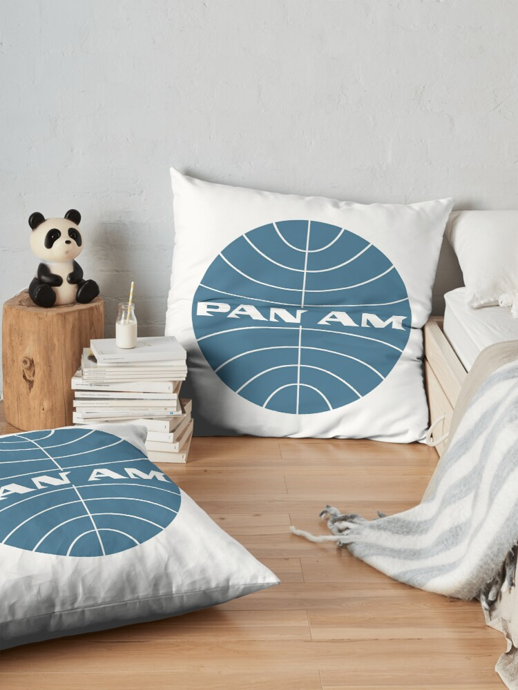 Alternate view of Pan Am Early 1950s Globe Thin Frame Inverted Floor Pillow