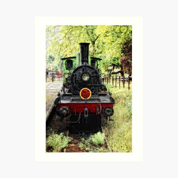 Old Steam Train Art Print